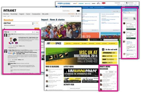 Home Page Design Samples by 10 Examples Of Bringing Social Onto The Intranet Homepage