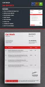 Car Wash Template by Car Wash Invoice Template Free Premium Templates