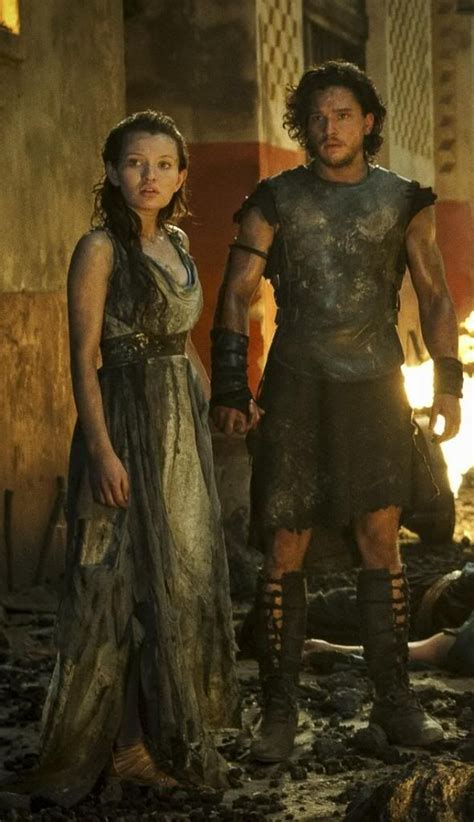 gladiator film accuracy emily browning kit harington in pompeii lights camera
