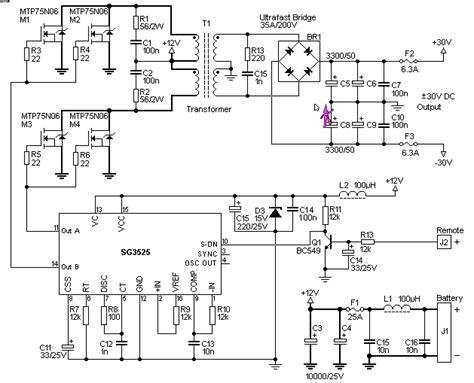converter dc ke ac rangkaian konverter dc ke dc sederhana skema rangkaian