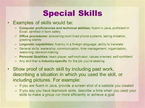 special skills and abilities gse bookbinder co