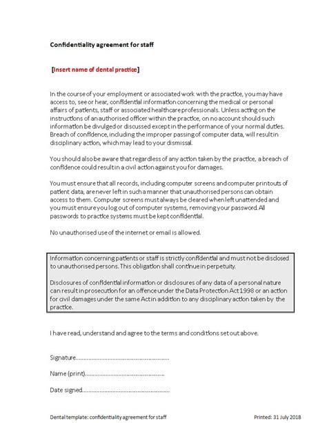 9 Medical Confidentiality Agreement Exles Pdf Doc Dental Partnership Agreement Template