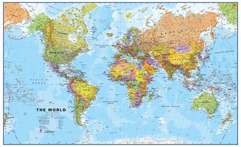 world maps international political wall map  large
