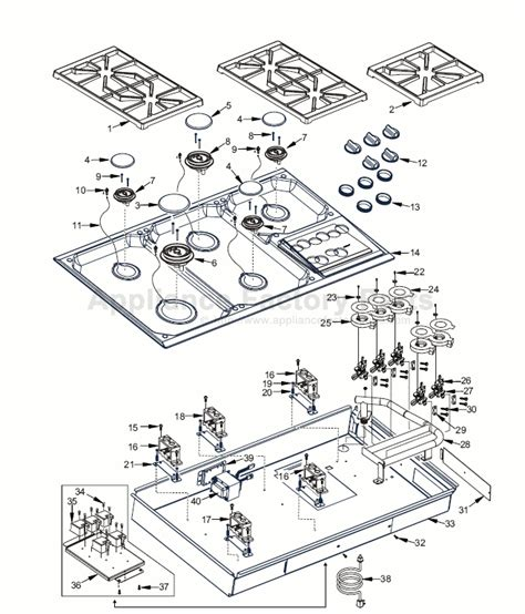 wolf cooktop parts parts for ct36g 3 wolf electric ranges
