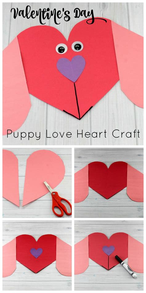 s day card arts and crafts template puppy preschool craft to make this s day