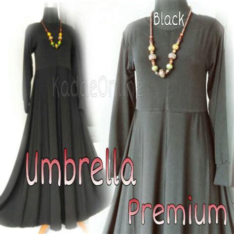 Kaos Umbrella Black jual baju gamis jersey polos umbrella premium busui murah