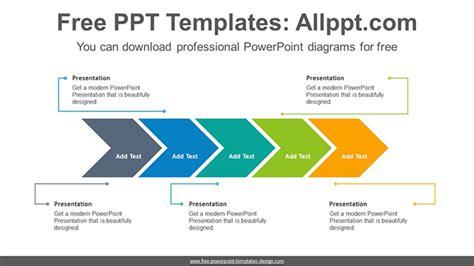 Horizontal Alignment Chevron Powerpoint Diagram Template Powerpoint Chevron Template