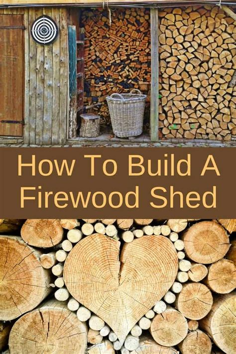 how to build a firewood shed backyard garden lover