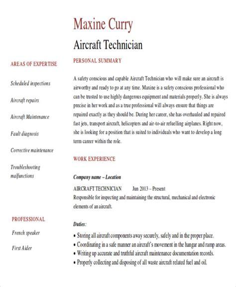 sle maintenance technician resume 9 exles in word pdf