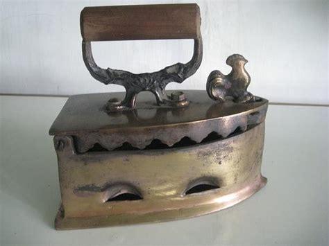toko antiek retro setrika kuno jadul ayam jago dari besi