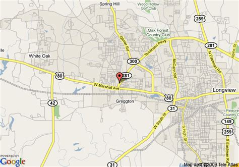 where is longview texas on a map map of wingate by wyndham longview longview