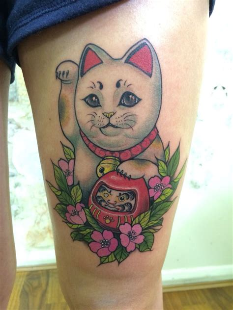 maneki neko tattoo my new maneki neko 3 ink d