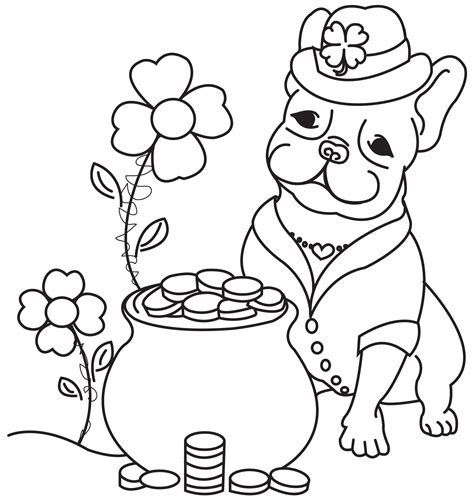 french bulldog coloring pages high detail patterned