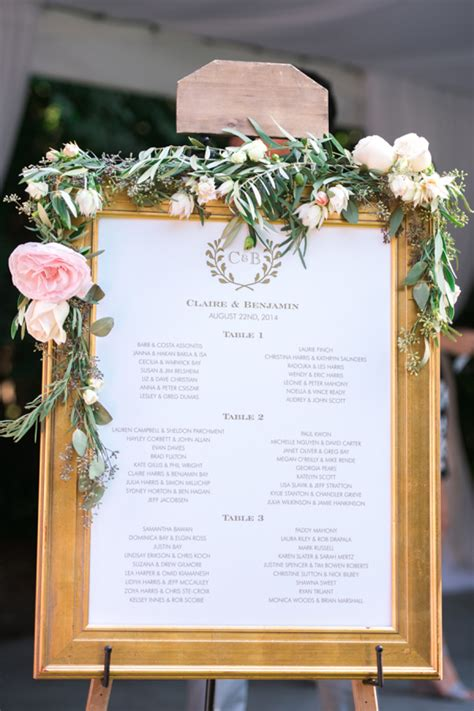 beautiful ways  display  wedding table plan