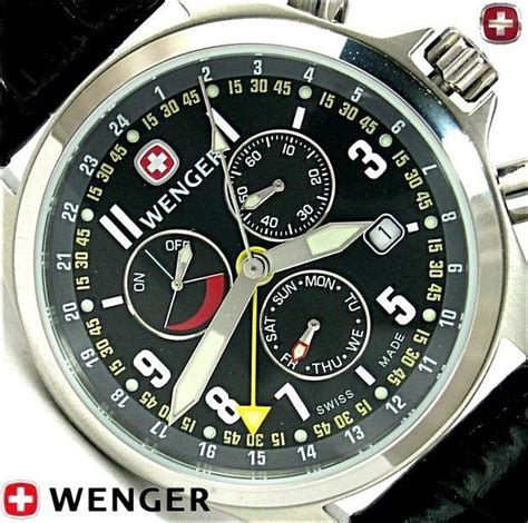 Swiss Army 5171 Dual Time wenger swiss army knife mens terragraph alarm power reserve dual time 927 new knives swiss