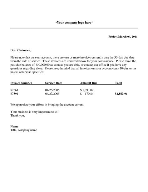 past due invoice notice best resume collection