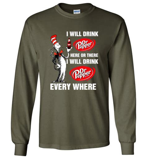 4953 Sweatshirt Navy pepperaholic dr seuss i will drink dr pepper here or