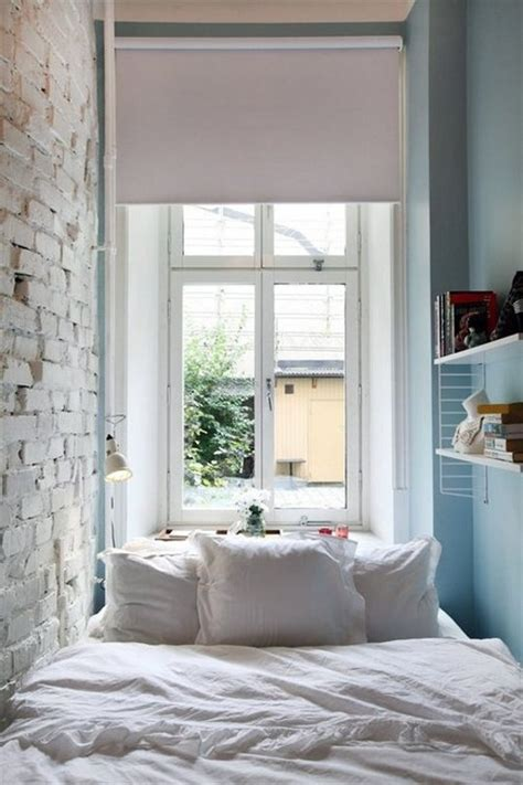 Simple Bedroom Designs Small Spaces Using A Window Sill As A Nightstand In A Tiny Bedroom