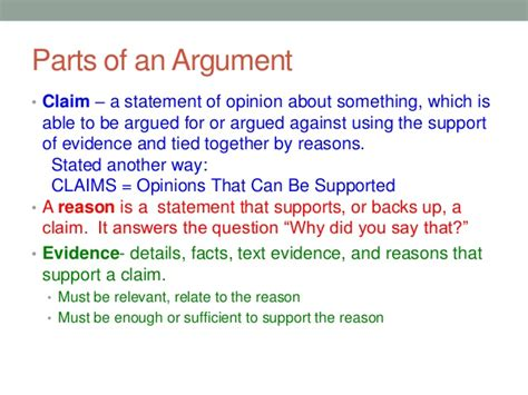 What Is A Claim In An Argumentative Essay by What Is An Argument A Foundation For Ela In The Common Era