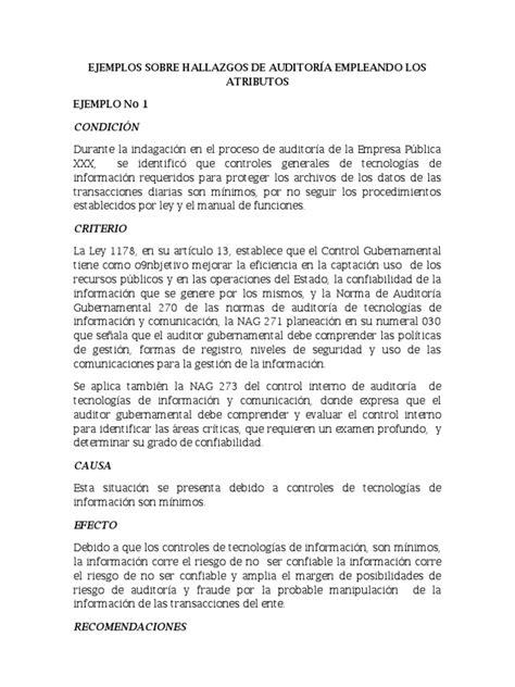 modelo de carta presentacion caso practico 2 21242 10 1jpg picture ejemplos sobre hallazgos de auditor 236 a empleando los atributos