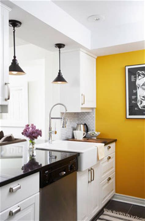 white kitchen with yellow accents kitchens yellow accent wall white kitchen cabinets