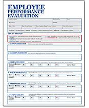 employee evaluation forms & employee performance review forms