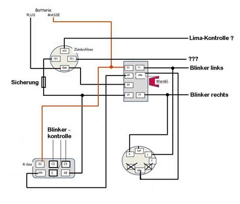 Motorrad Blinker Verkabelung by Schaltplan Blinker Traktor Oldtimer Automobil Bau Auto