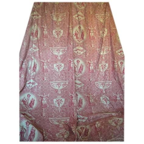 toile curtains for sale french 19th century antique toile de jouy pair of curtains