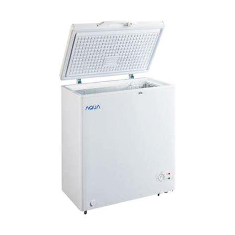 Kulkas Portable Aqua Japan harga jual aqua aqf 100 w chest freezer putih 100l sejuk