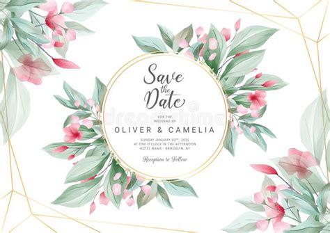 wedding invitation elegant horizontal stock illustration