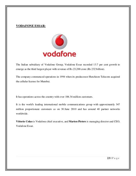 Cancellation Letter Vodafone Vodafone Number Cancellation Letter Format 28 Images
