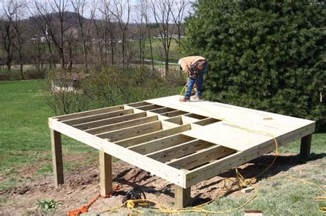 build  foundation   shed   slope