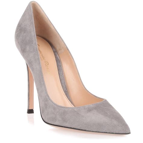 light grey suede pumps lyst gianvito gianvito grey suede in grey