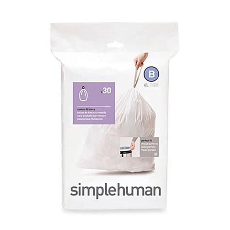 bathroom trash bags buy simplehuman trash bags from bed bath beyond