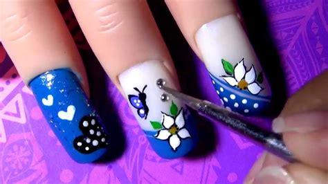 imagenes de uñas decoradas azules decorado de u 241 as azul blue decoration nail tutorial