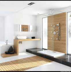 Modern Bathroom Design With Shower Modern Bathroom With Unfinished Wood Interior Design Ideas
