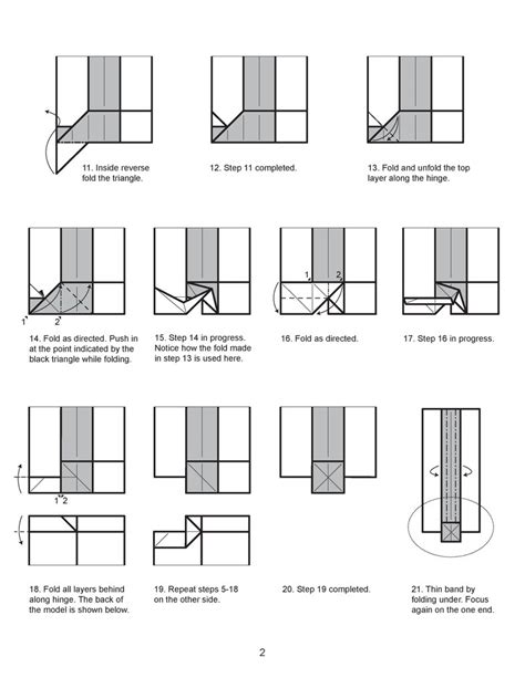 Origami Sword Diagrams - origami scroll diagram 2 by houndread on deviantart