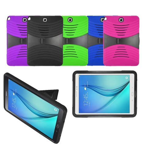 Tab A 8 Inch T350 Rugged Armor Stand Hybrid Tpu Stand rugged stand box cover for samsung galaxy tab a 8 0 quot sm t350 9 7 quot sm t550