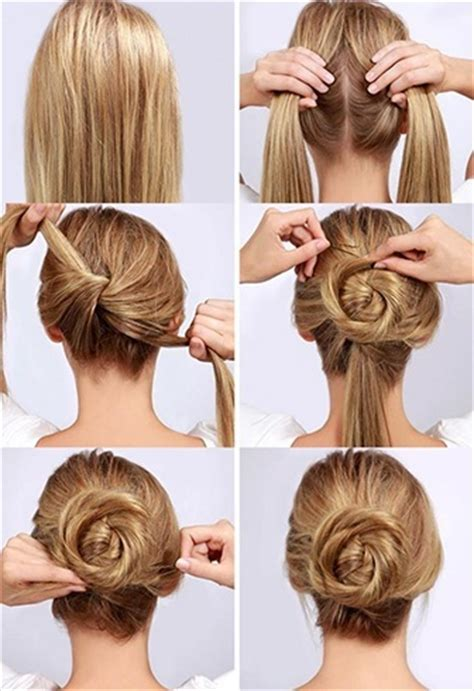 various styles to the messy top knot for short hair