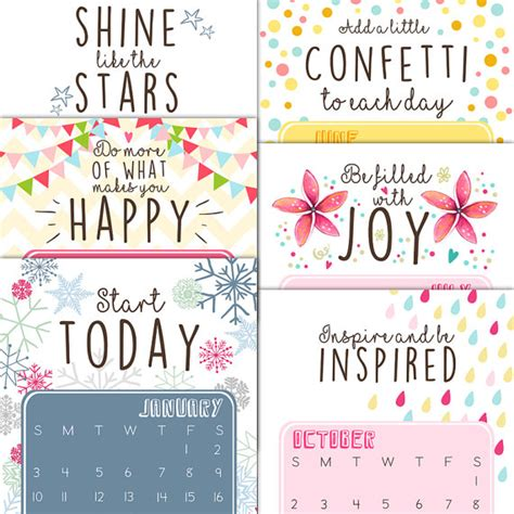 printable quote calendar 2016 printable calendar 2016 inspirational quotes by