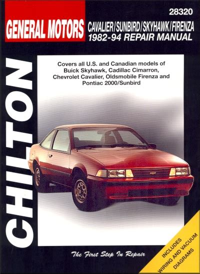 free auto repair manuals 1988 pontiac sunbird engine control skyhawk cimarron cavalier firenza 2000 repair manual 1982 1994