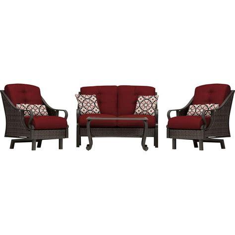 Patio Furniture Ventura County Hanover Ventura 4 All Weather Wicker Patio Seating