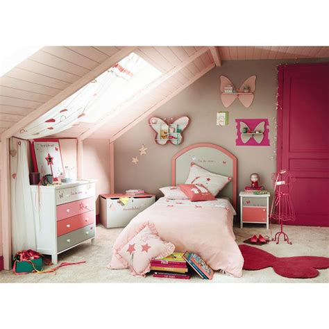 maison du monde chevet enfant gris et stella d 233 co chambre enfants papillons