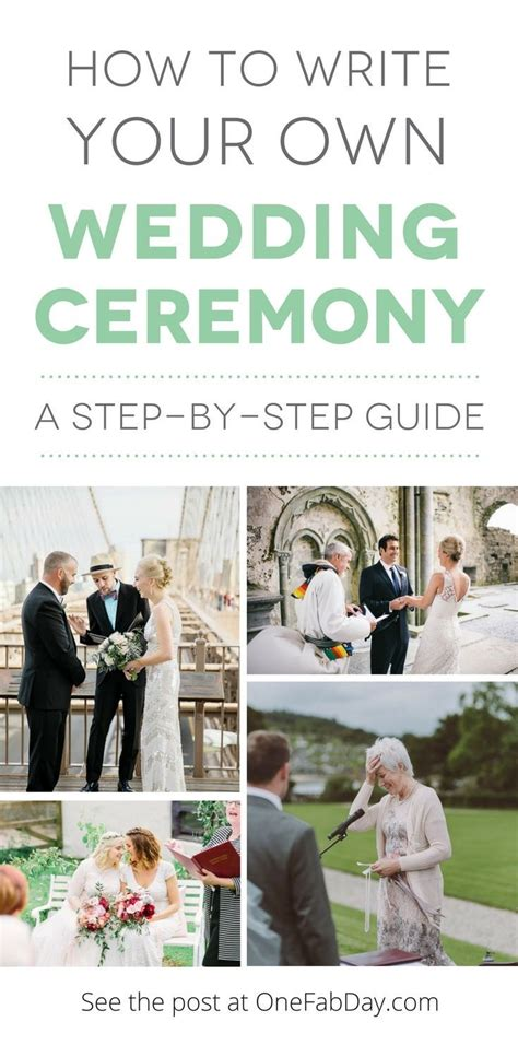 step by step guide how to write your own wedding ceremony wedding wedding ceremony script