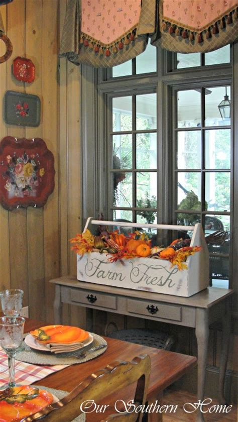 room decorating tool vintage tool box painted for a fall dining room our