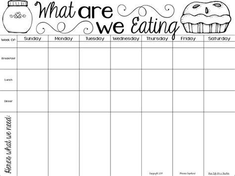 breakfast lunch dinner menu template 5 best images of meal planning guide printable