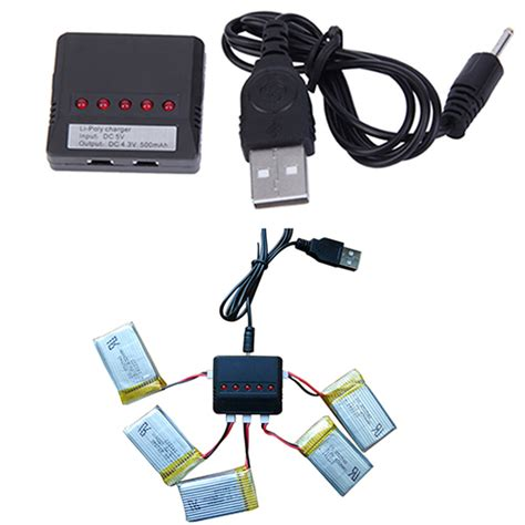 Drone Batere Interface Charger Usb 5 In 1 37v Lipo 5 in 1 lipo battery usb charger adapter for syma x5c 1 x5c drone ufo quadcopter 6irc in