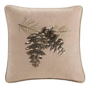 brownstone beige pine cone pillow accent pillows