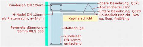 Bewehrung Bodenplatte Garage by Fertiggaragen Fachberatung Bodenplatten Fundamente