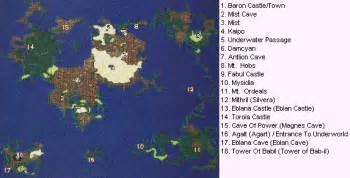 Ff4 World Map by Rpgclassics Com Final Fantasy Iv
